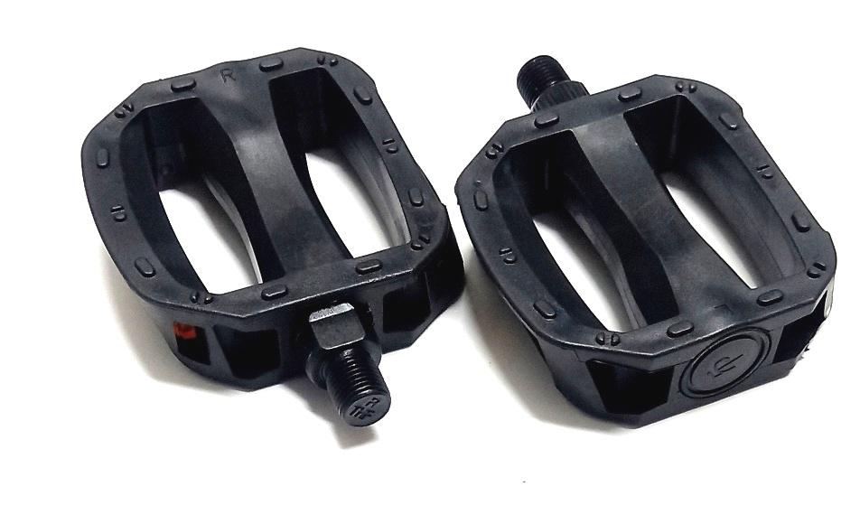 """Педали FP-650 (181) ось 1/2"""", пластиковые, чёрные   ч"""