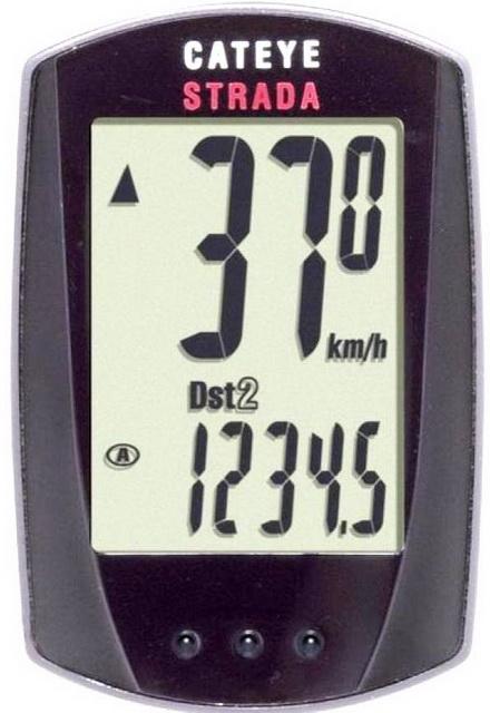 Велокомпьютер Cateye, CC-RD100 (Strada), 8 функций, сенсорный, чёрный