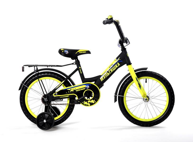 """Велосипед 12"""" Мультяшка XB1205 чёрный, 2017г."""
