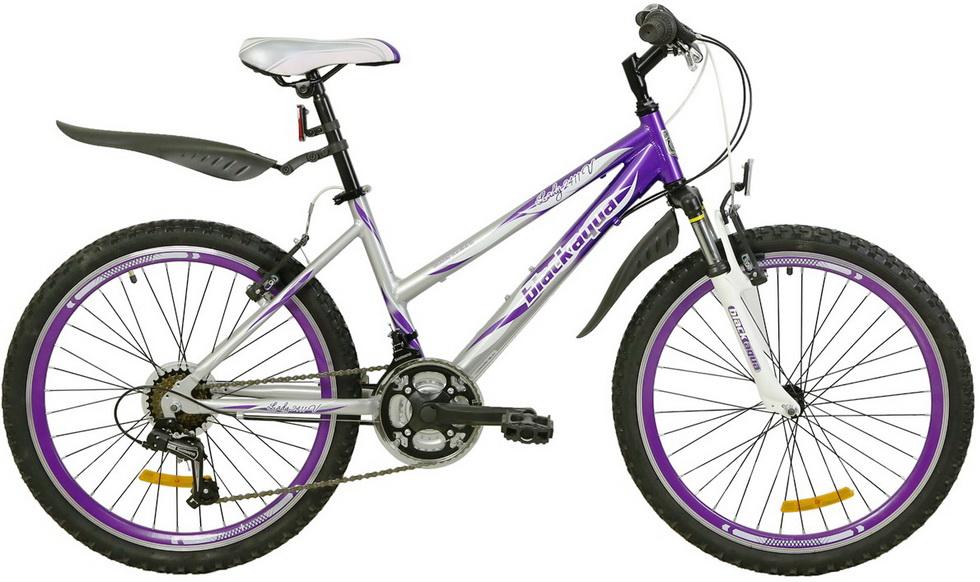 """Велосипед 24"""" Black Aqua Lady 2411 V GW-B504 18ск, алюминиевая рама, V-br, серебристо-фиолетовый, 2017г."""
