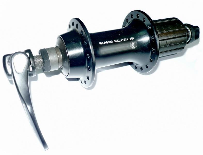 Втулка ROAD задняя 36H, OLD-130мм, Ø10мм, QR, под кассету, Shimano, FH-RS300, Sora, 8-10ск., чёрная