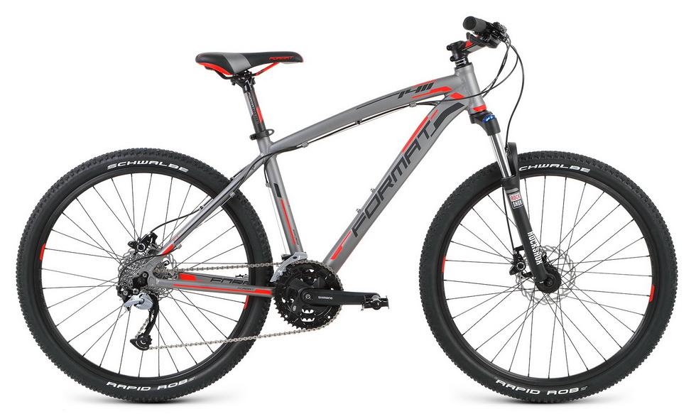 """Велосипед 26"""" Format 1411 (M"""") 27ск, AL, Disc, серый, модель 2016  **"""