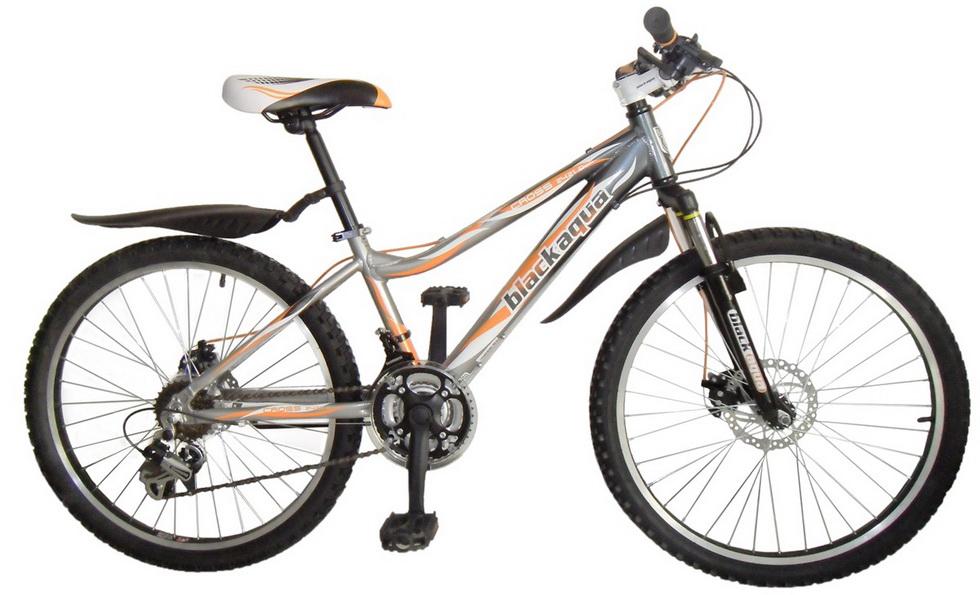 "Велосипед 24"" Black Aqua Cross 2421 D GW-B222D 18ск, алюминиевая рама, Disc, серо-синий"