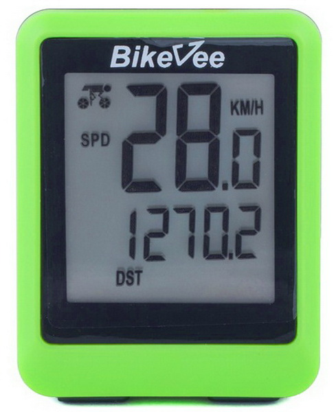 Велокомпьютер Bike Vee, BKV-9001, 13 функций, зелёный