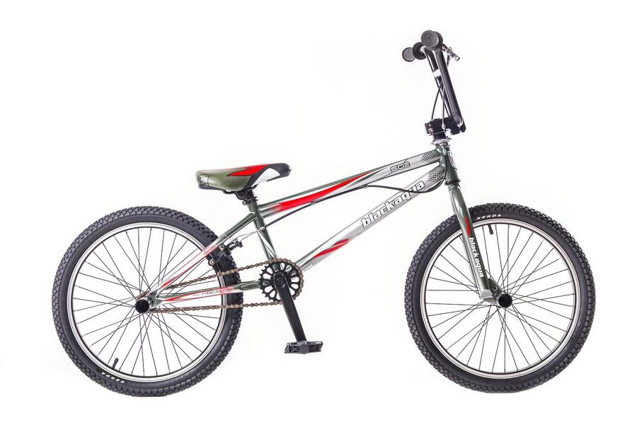 "Велосипед 20"" BMX Black Aqua Street GW-11B602 / GW-B173, рама - хромо молибден, серо-красный"