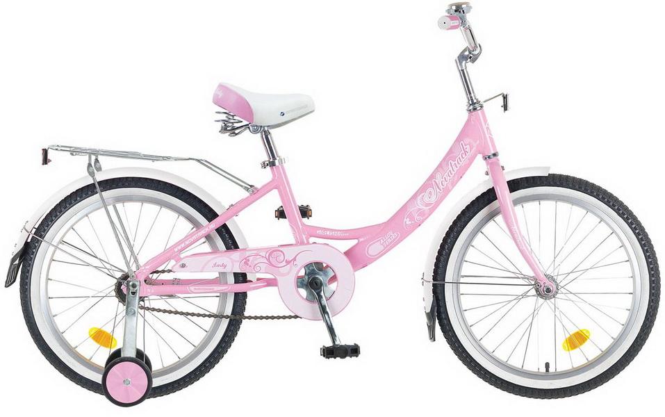 """Велосипед 20"""" Novatrack Girlish line, алюминиевая рама, розовый"""