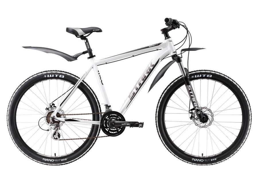 """Велосипед 27.5"""" Stark Router 27.3 D, (18"""") 21ск, AL, Disc, бело-чёрный, модель 2017"""