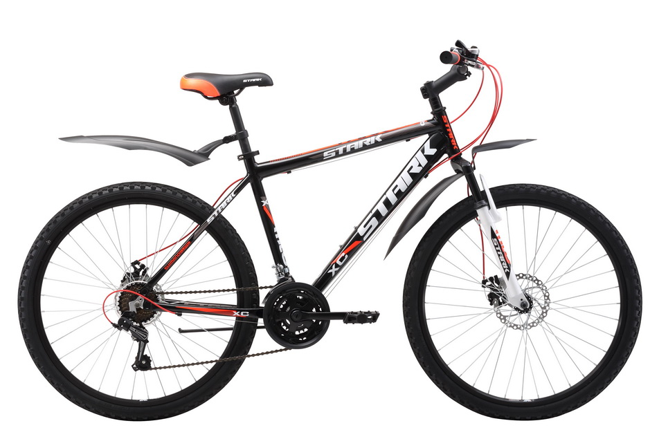 """Велосипед 26"""" Stark Tank 26.1 D, (18"""") 21ск, AL, Disc, чёрно-красный, модель 2017"""