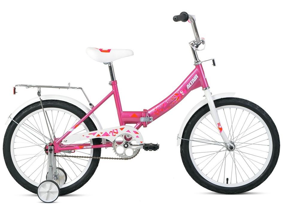 """Велосипед 20"""" Altair City Kids Compact складной розовый, 2021г.  скидка 25%"""