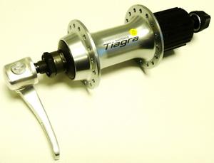 Втулка ROAD задняя 32Н, OLD-130мм, Ø10мм, QR, под кассету, Shimano, FH-4600, Tiagra, 8-10ск., серебристая
