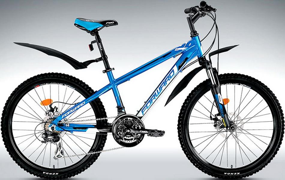"""Велосипед 24"""" Forward Twister 2.0 18ск, алюминиевая рама, Disc, сине-чёрный"""