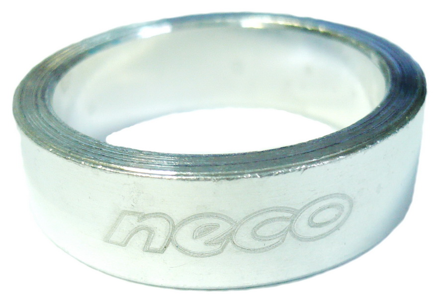 "Кольцо рулевой колонки 1-1/8"" Н=10мм Neco AS3610 AL, серебристое"