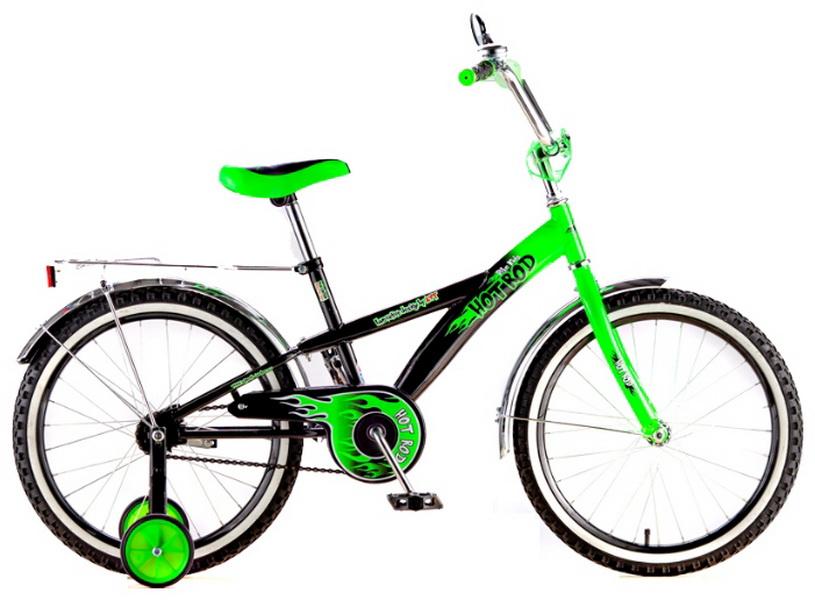 """Велосипед 20"""" Black Aqua Hot-Rod KG2006 зелёный (цветные покрышки)"""