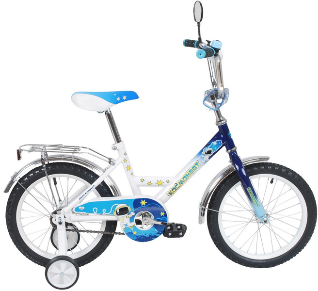 """Велосипед 16"""" Black Aqua Космонавт KG1616 синий"""