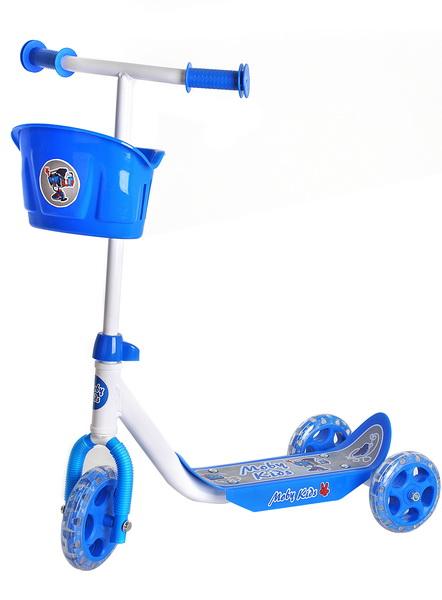 Самокат Moby Kids Кроха 64640 (140x120мм), 3-х колёсный, синий