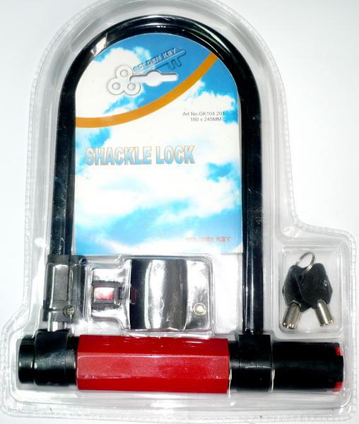 Замок противоугонный 180х245мм Ø12мм (ключ) Golden key, GK104.201 (скоба с крепежом)   г
