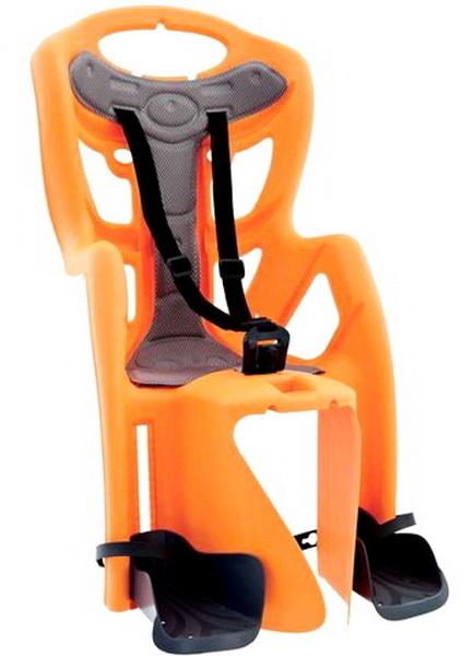 Седло (детское кресло), крепление на багажник, Bellelli, Pepe Clamp, 22кг, оранжевое   а