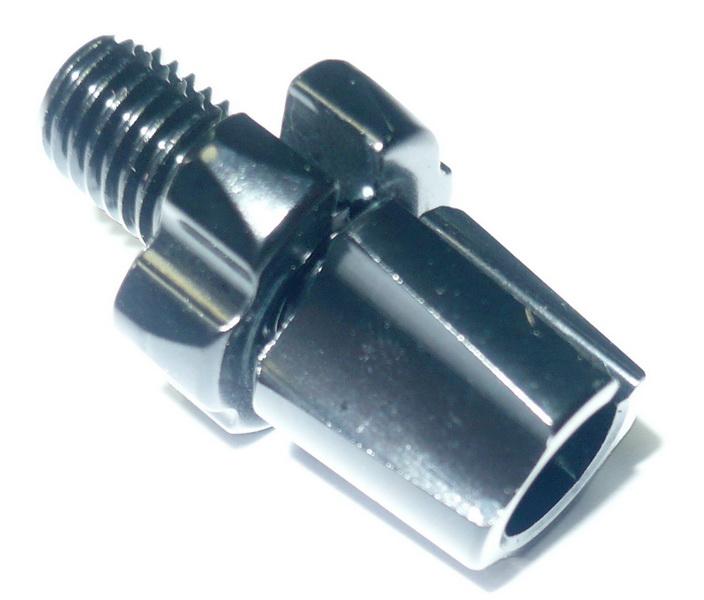 Болт натяжки троса М5(7), AL, Tektro, 540.5, чёрный   а  (1мм)