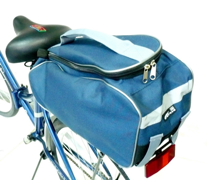 Сумка на багажник Course, джаст-1, вс095.040, синяя