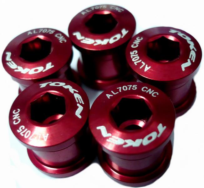 Компоненты Бонки М8-0.75х8.5L AL7075 Token, TK-AL083, красные (5шт.)   а