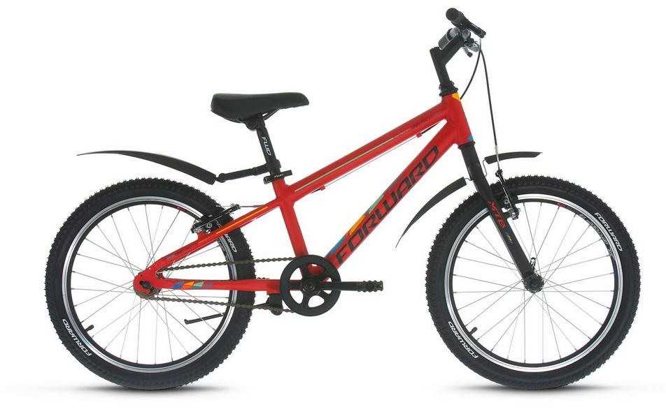 """Велосипед 20"""" Forward Unit Pro 1.0 1ск, алюминиевая рама, V-br, красный"""