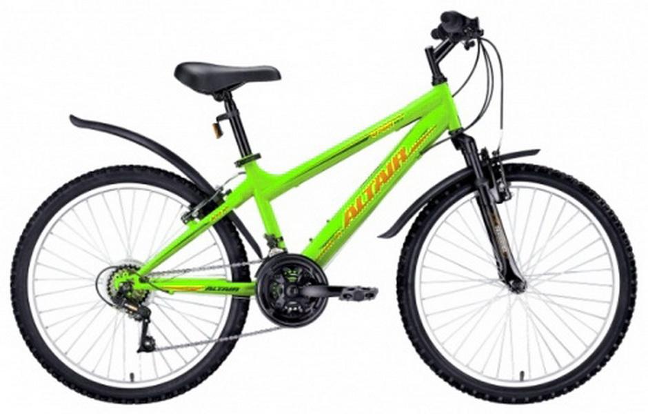 """Велосипед 24"""" Altair MTB HT 18ск, St, Disc, зелёный, 2017г."""