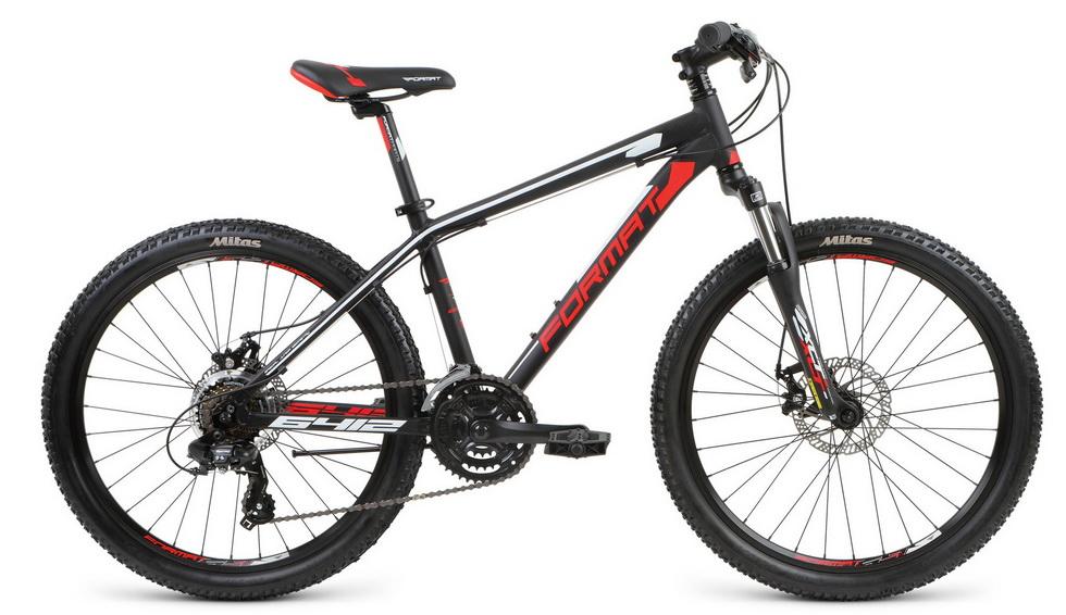 """Велосипед 24"""" Format 6412 boy 21ск, AL, Disc, чёрный, модель 2017"""