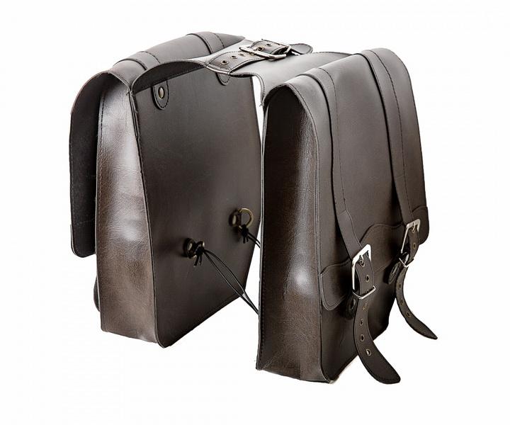 "Сумка на багажник Vinca Sport 310х330х90мм, ""штаны"", искуственная кожа, коричневая (CB 8066)  **"