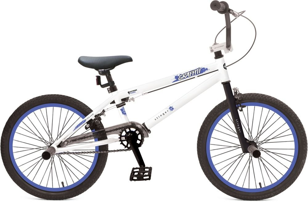 "Велосипед 20"" BMX Novatrack Graffitti, белый"