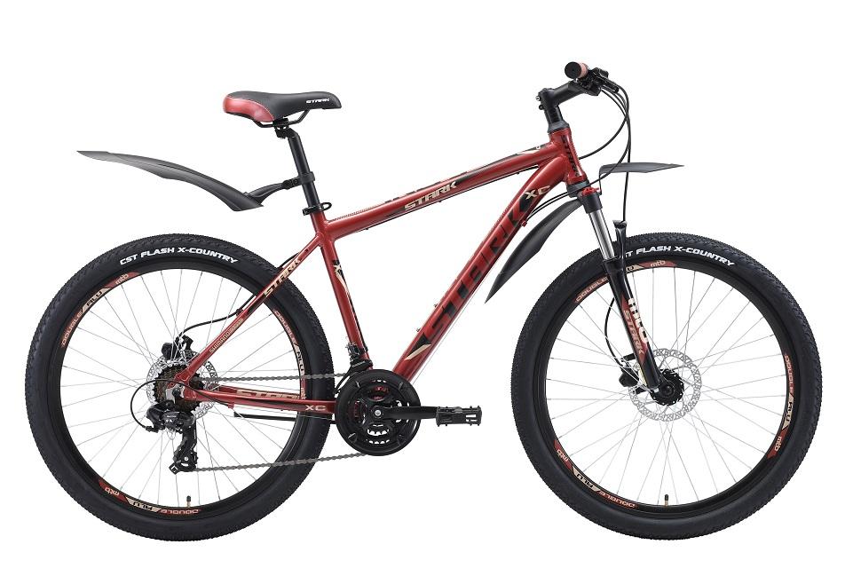 """Велосипед 26"""" Stark Indy 26.2 HD, (20"""") 21ск, AL, Disc, коричнево-чёрно-серый, модель 2018"""