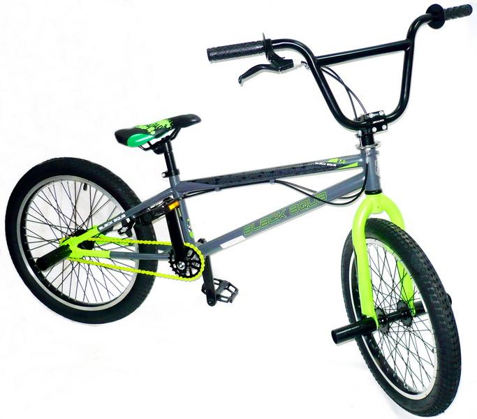 """Велосипед 20"""" BMX Black Aqua Jump 2.0 GL-602V 1ск, V-br, серо-зелёный, 2018г."""