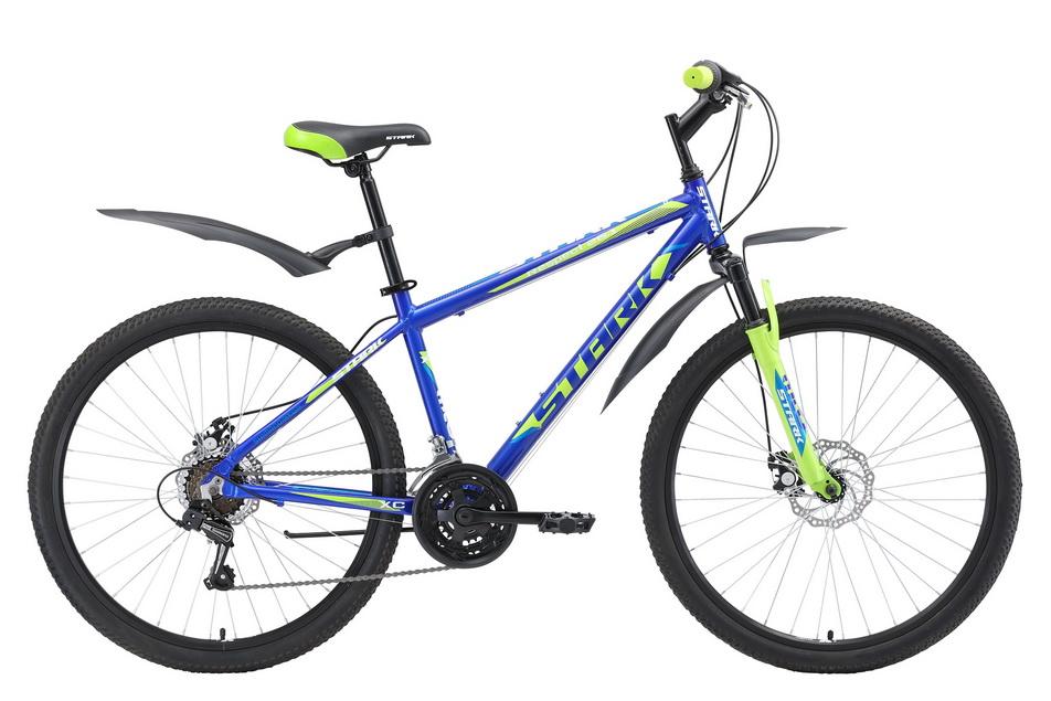 """Велосипед 26"""" Stark Respect 26.1 D, (18"""") 18ск, AL, Disc, сине-зелёно-голубой, модель 2018"""