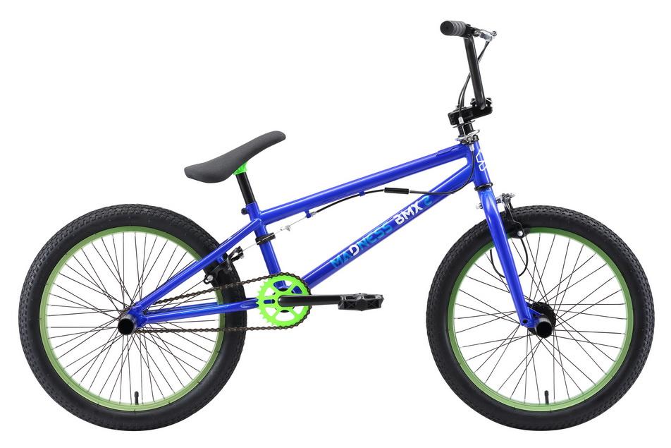 "Велосипед 20"" Stark BMX 2 Madness, St, чёрно-голубой, модель 2018"