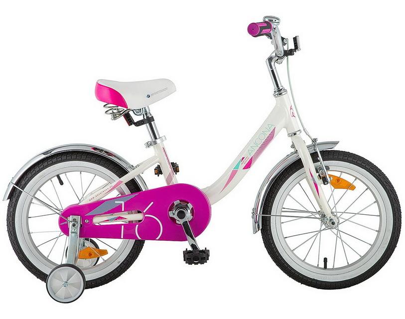 """Велосипед 16"""" Novatrack Ancona, алюминиевая рама, белый"""