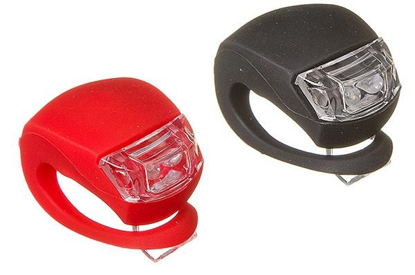 Фонарь задний + передний STG 2 диода, 4 режима, силикон, с батарейками, BC-RL8001 чёрный/красный   г