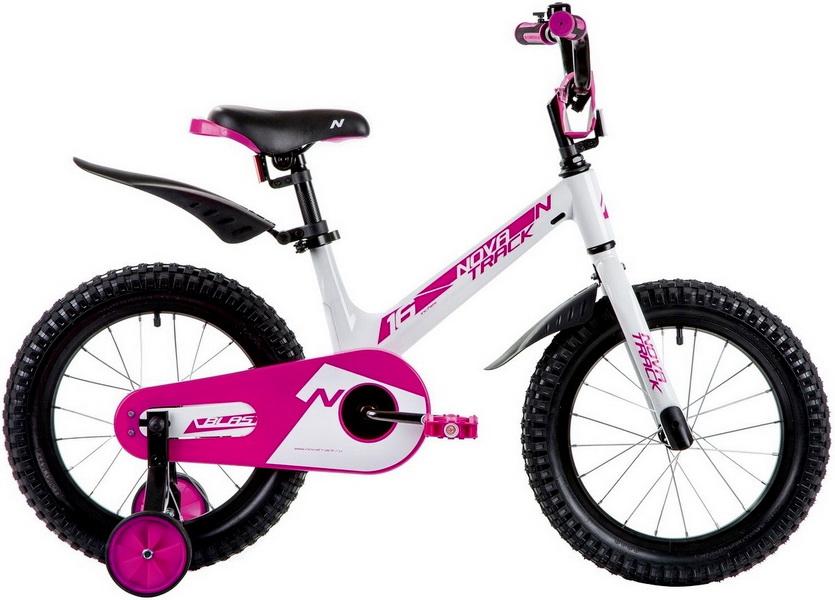 """Велосипед 16"""" Novatrack Blast, алюминиевая рама, бело-розовый   скидка 40%"""
