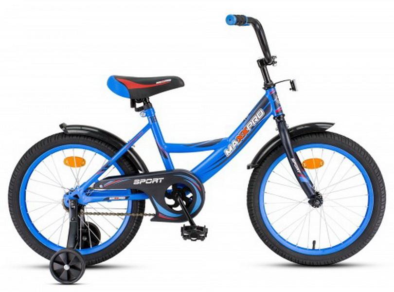 """Велосипед 18"""" MaxxPro Sport сине-чёрный"""