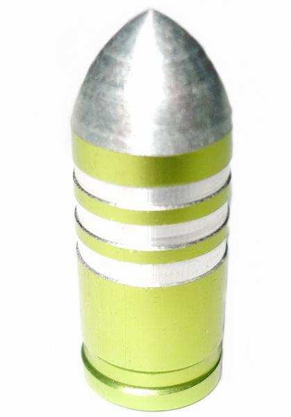 Колпачок (декоративный) A/V AL Primeaero, NZ-B3, пуля зелёная с проточками  *