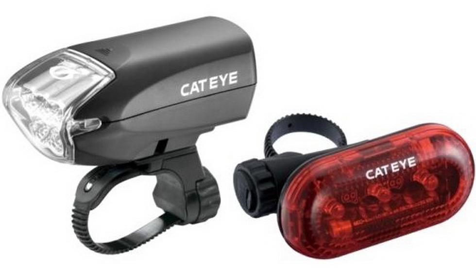 Фонарь задний + передний Cateye, HL-EL220/TL-LD130