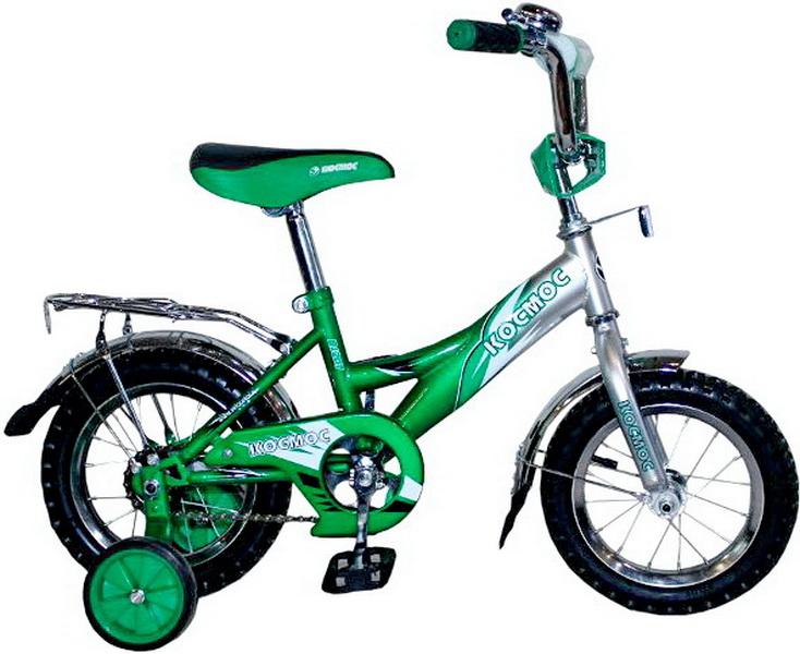 """Велосипед 12"""" Космос В1207 зелёный"""
