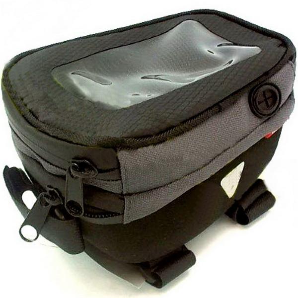Сумка на раму Konnix, TY-10071EV, 110х105х155мм, с карманом для IPhone, чёрная   а
