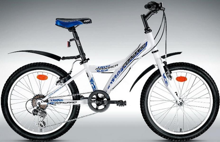 "Велосипед 20"" Forward Majorca 2.0 6ск, St, V-br, белый"
