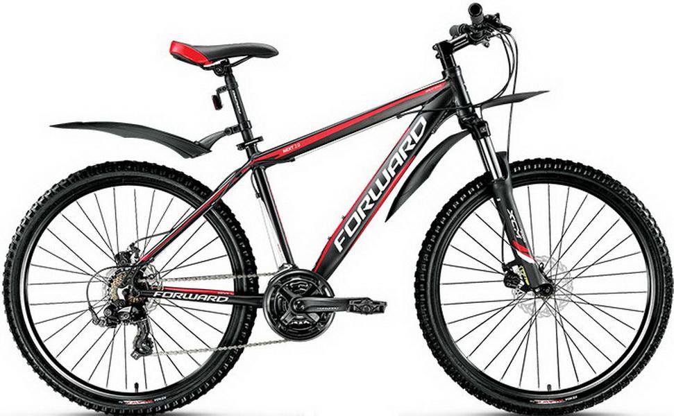 """Велосипед 26"""" Forward Next 2.0 (21"""") 21ск, AL, Disc, чёрный"""