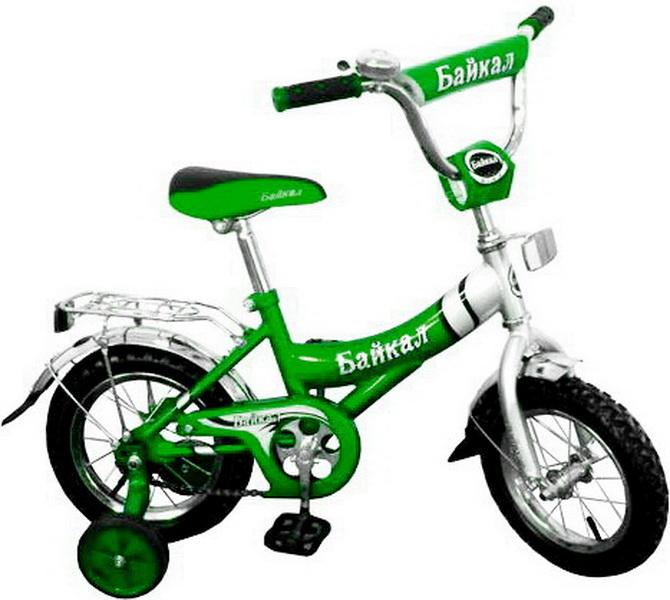 """Велосипед 12"""" Байкал В1203 зелёный"""