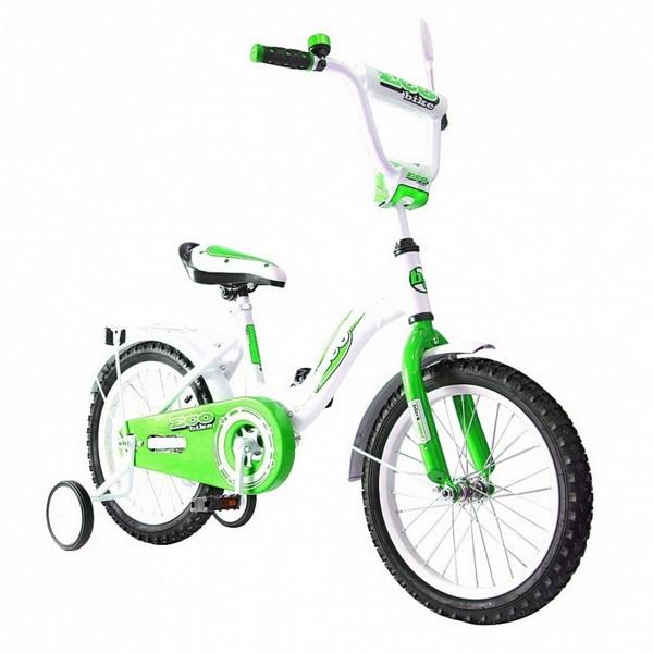 """Велосипед 14"""" Black Aqua Ecobike KG1421 алюминиевая рама, зелёный"""