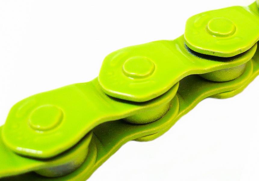 """Цeпь BMX 100зв.1/2""""х1/8"""" KMC HL710, Half-Link, зелёная   а"""
