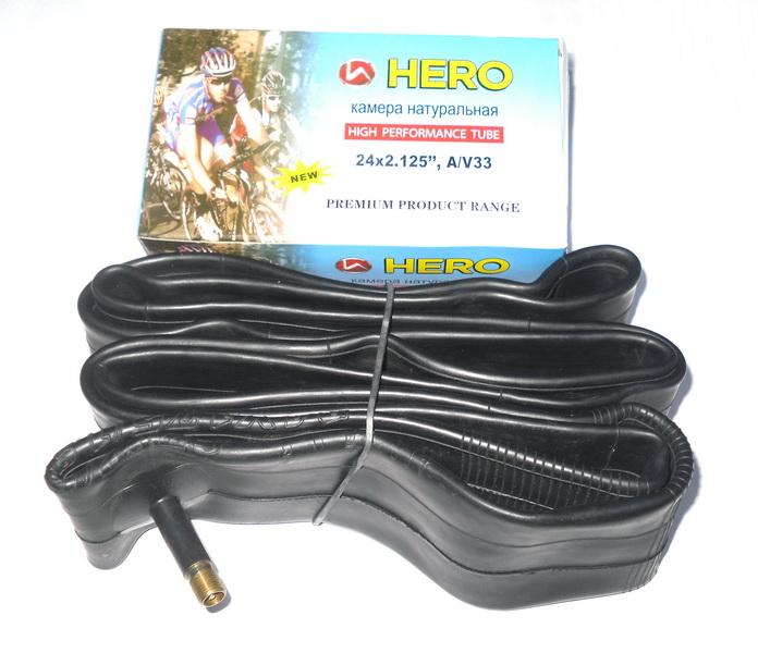 "Велокамера 24""х1.75/2.125 (507-47/57) A/V-33мм Hero   ч"