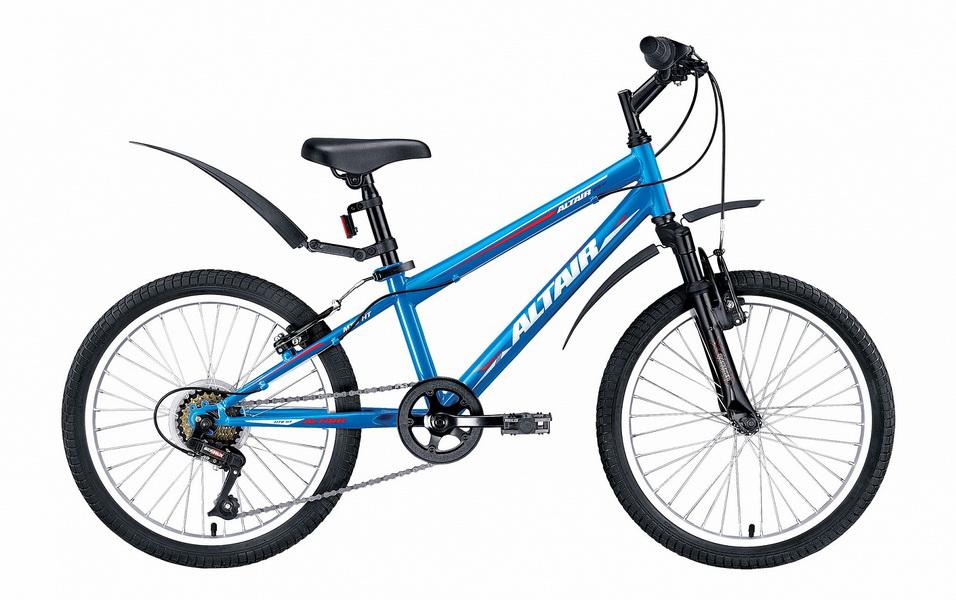 "Велосипед 20"" Altair MTB HT JR 6ск, St, V-br, синий, 2017г."