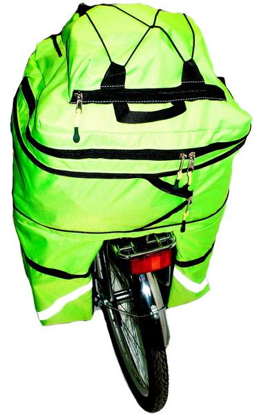 """Сумка на багажник Course, вр031.050, 30-50л, """"штаны"""", зелёная"""