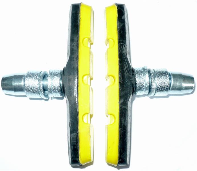 Kолодки тормозные V-br VLX, VLX-BS02, чёрно-жёлтые   а